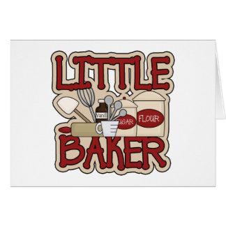 Pequeño panadero tarjetas