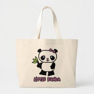 Pequeño panda bolsa tela grande