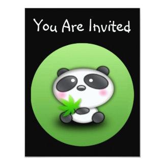 """Pequeño panda Cub Invitación 4.25"""" X 5.5"""""""