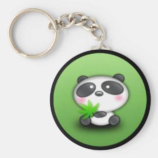 Pequeño panda Cub Llavero Redondo Tipo Pin