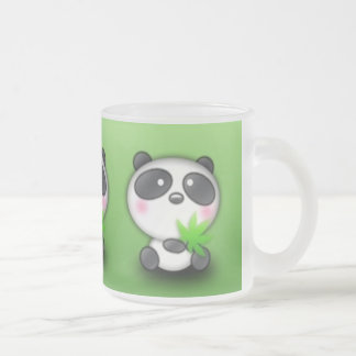 Pequeño panda Cub Taza Cristal Mate