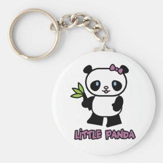 Pequeño panda llavero redondo tipo pin