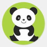 Pequeño panda pegatinas redondas