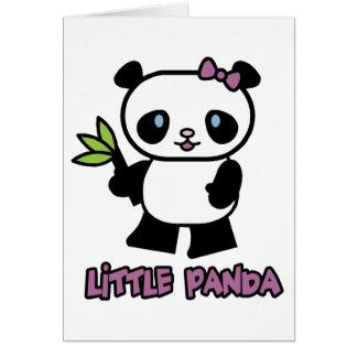 Pequeño panda tarjeta de felicitación