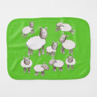 Pequeño paño mullido del Burp de los corderos Paños De Bebé