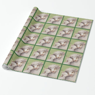 Pequeño papel de embalaje verde del cordero papel de regalo