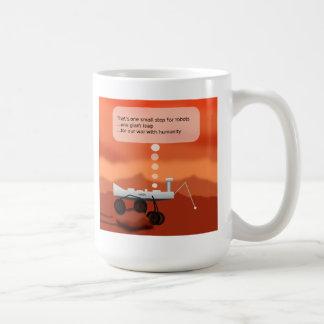 Pequeño paso taza de café