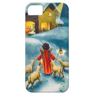 Pequeño pastor en el camino a Belén iPhone 5 Funda