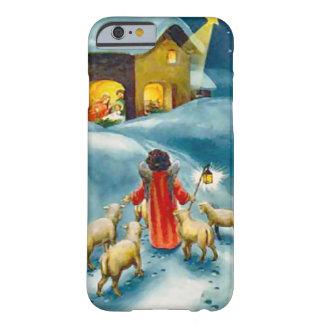 Pequeño pastor en el camino a Belén Funda De iPhone 6 Barely There