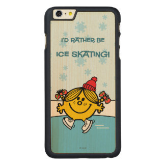 Pequeño patinaje de hielo de Srta. Sunshine Funda De Arce Carved® Para iPhone 6 Plus Slim