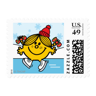 Pequeño patinaje de hielo de Srta. Sunshine Sellos Postales