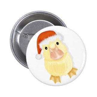 Pequeño pato en el Pin del navidad del gorra de Sa