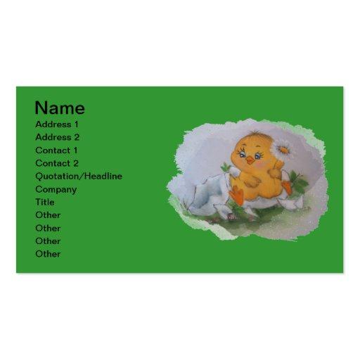Pequeño pato plantilla de tarjeta de negocio