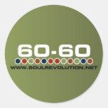 Pequeño pegatina 60-60