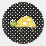 Pequeño pegatina de la tortuga