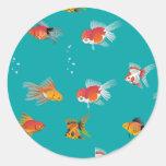 Pequeño pegatina de los pescados