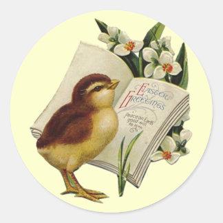 Pequeño pegatina de Pascua del pájaro