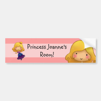 Pequeño pegatina de princesa Door Pegatina Para Auto