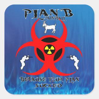 Pequeño pegatina del logotipo del plan B Paintball