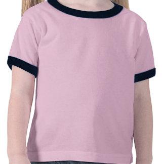 Pequeño peluche del rosa del diablo de la mamá camiseta