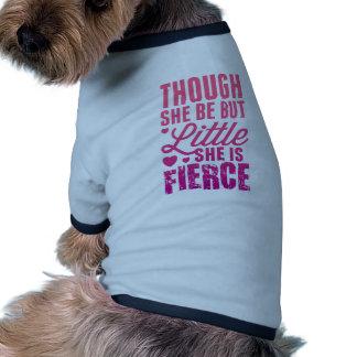 Pequeño pero feroz camiseta con mangas para perro