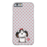 Pequeño perrito de Shih Tzu en modelo de los Funda Para iPhone 6 Barely There