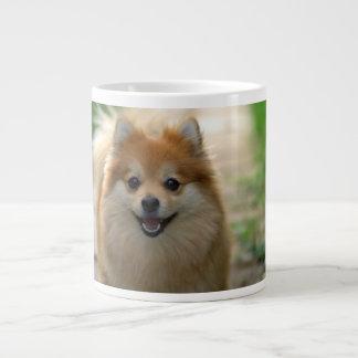 Pequeño perro feliz taza grande