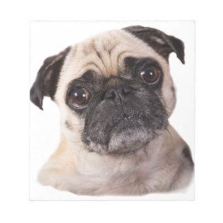 pequeño perro lindo del barro amasado bloc de papel
