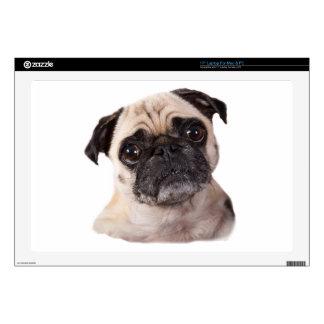 pequeño perro lindo del barro amasado calcomanía para portátil