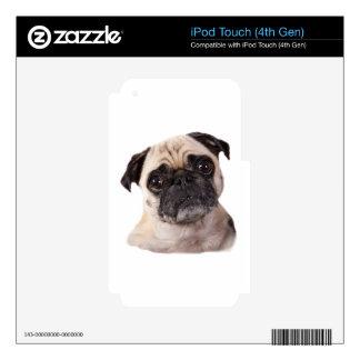 pequeño perro lindo del barro amasado calcomanías para iPod touch 4G