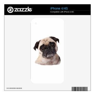 pequeño perro lindo del barro amasado skin para el iPhone 4
