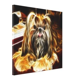 Pequeño perro lindo impresion de lienzo