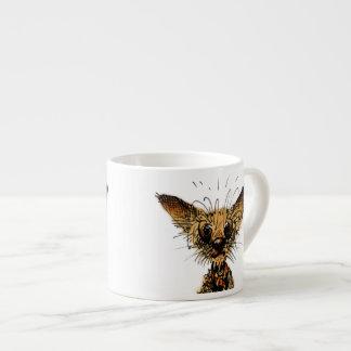 Pequeño perro miniatura divertido lindo taza espresso