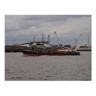 Pequeño petrolero en el Thames Tarjeta Postal