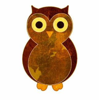 Pequeño Pin de la escultura del búho de Brown Pin Fotoescultura