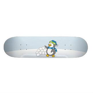 Pequeño pingüino con agitar de las bolas de la patines personalizados