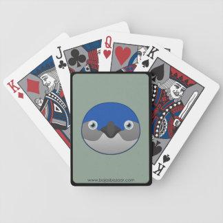 Pequeño pingüino de papel cartas de juego