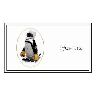 Pequeño pingüino del jugador de hockey de la masco plantillas de tarjetas personales