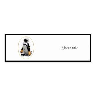 Pequeño pingüino del jugador de hockey de la masco plantilla de tarjeta de negocio