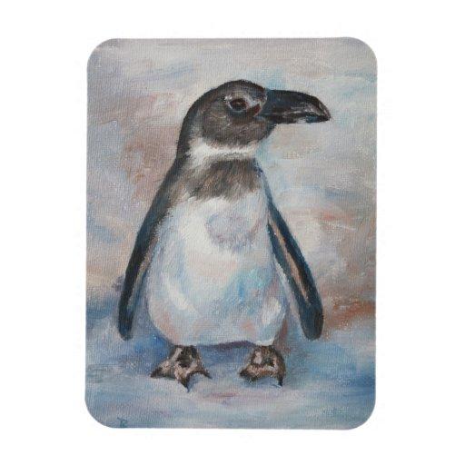 Pequeño pingüino frío imán flexible