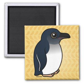 Pequeño pingüino imán cuadrado