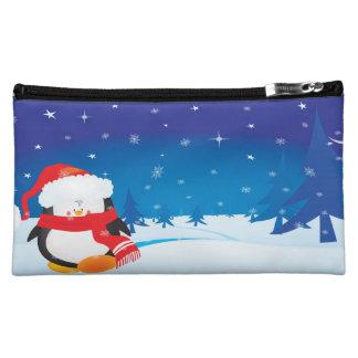 Pequeño pingüino lindo del navidad
