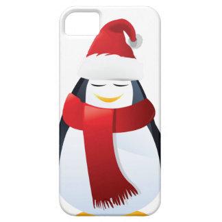 Pequeño pingüino lindo del navidad iPhone 5 Case-Mate protector