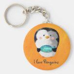 Pequeño pingüino lindo llaveros personalizados