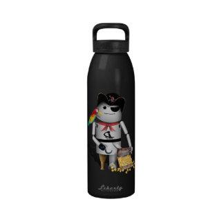 Pequeño pirata lindo del robot - Capt n Robo-x9 Botella De Agua Reutilizable