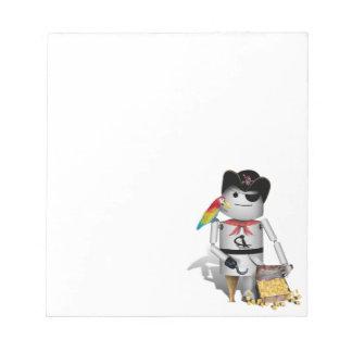Pequeño pirata lindo del robot - Capt'n Robo-x9 Blocs De Notas