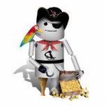 Pequeño pirata lindo del robot - Capt'n Robo-x9 Escultura Fotográfica