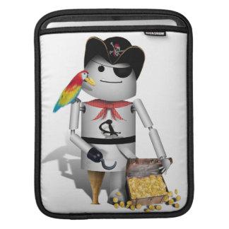 Pequeño pirata lindo del robot - Capt'n Robo-x9 Fundas Para iPads