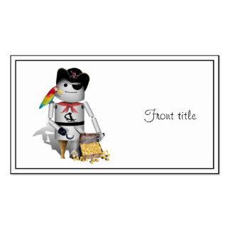 Pequeño pirata lindo del robot - Capt'n Robo-x9 Tarjetas De Visita