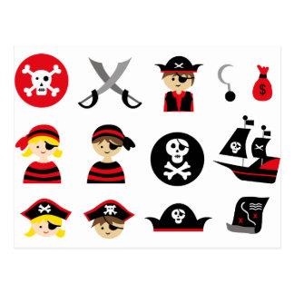 Pequeño pirata todo postales